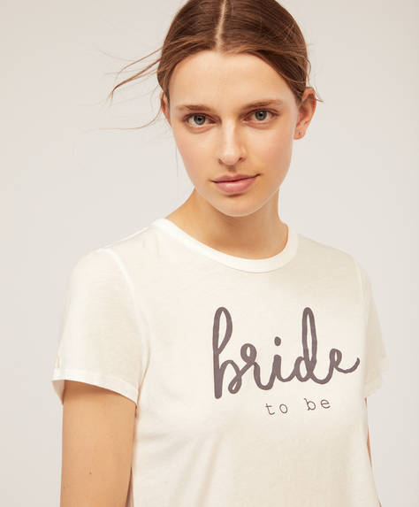 T-shirt met korte mouw bride to be.