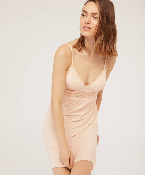Modal nightdress with removable padding