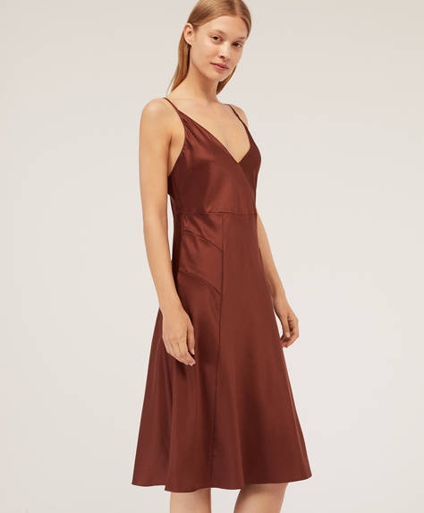 Chocolate satin nightdress