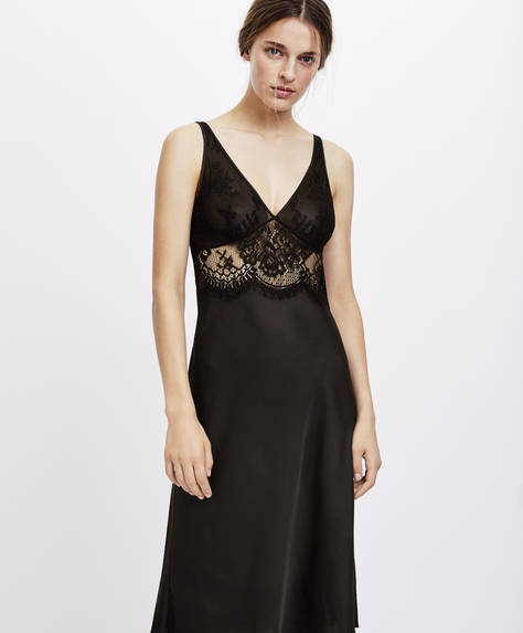 Long lace nightdress