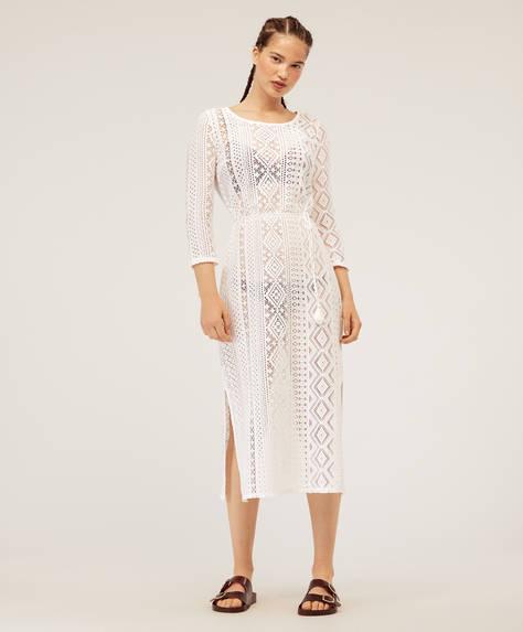 Vestido crochet geométrico