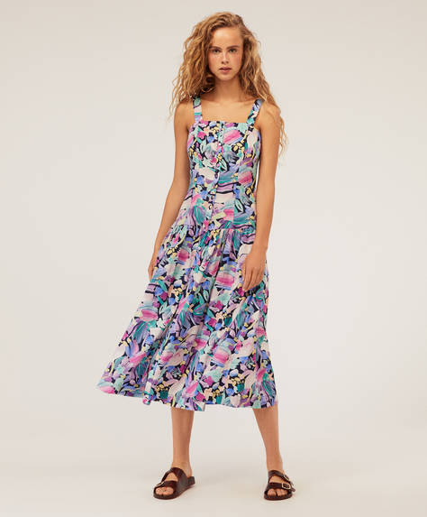 Long abstract floral dress
