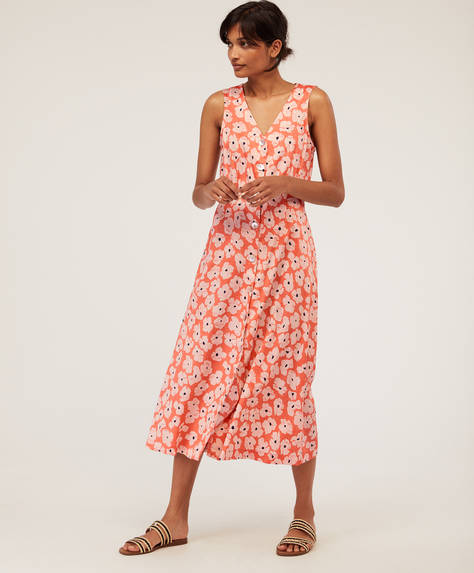 Dotty floral dress