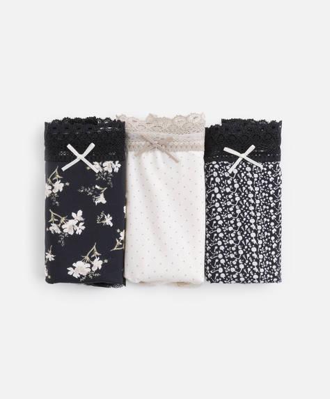 3 micro floral classic briefs
