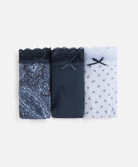 3 micro cashmere Brazilian briefs