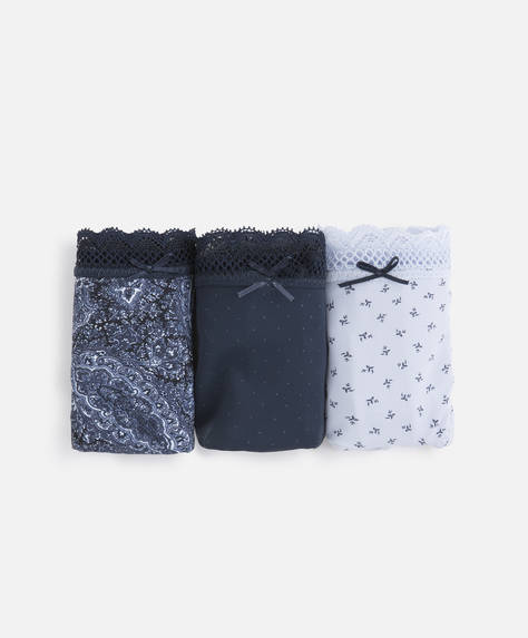 3 culottes classiques microcachemire