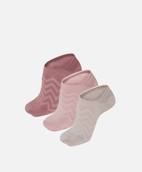 3 pairs of Tactel® sport footsies