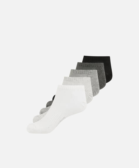 5 pairs of basic ankle socks