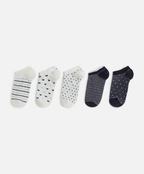 5 calcetines estampados
