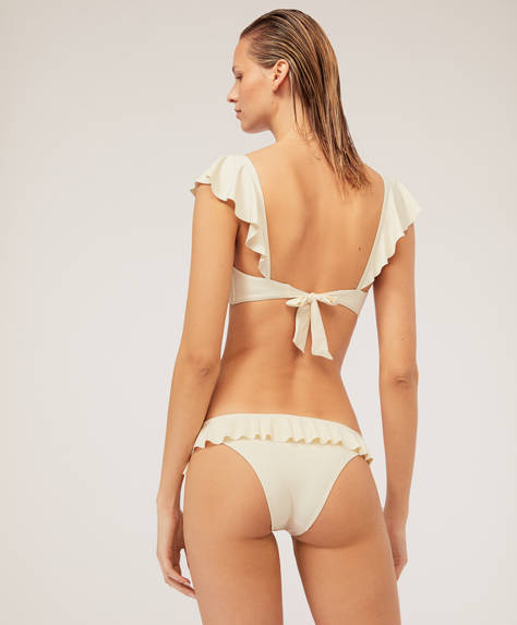 Slip bikini brazilian cu volănaşe