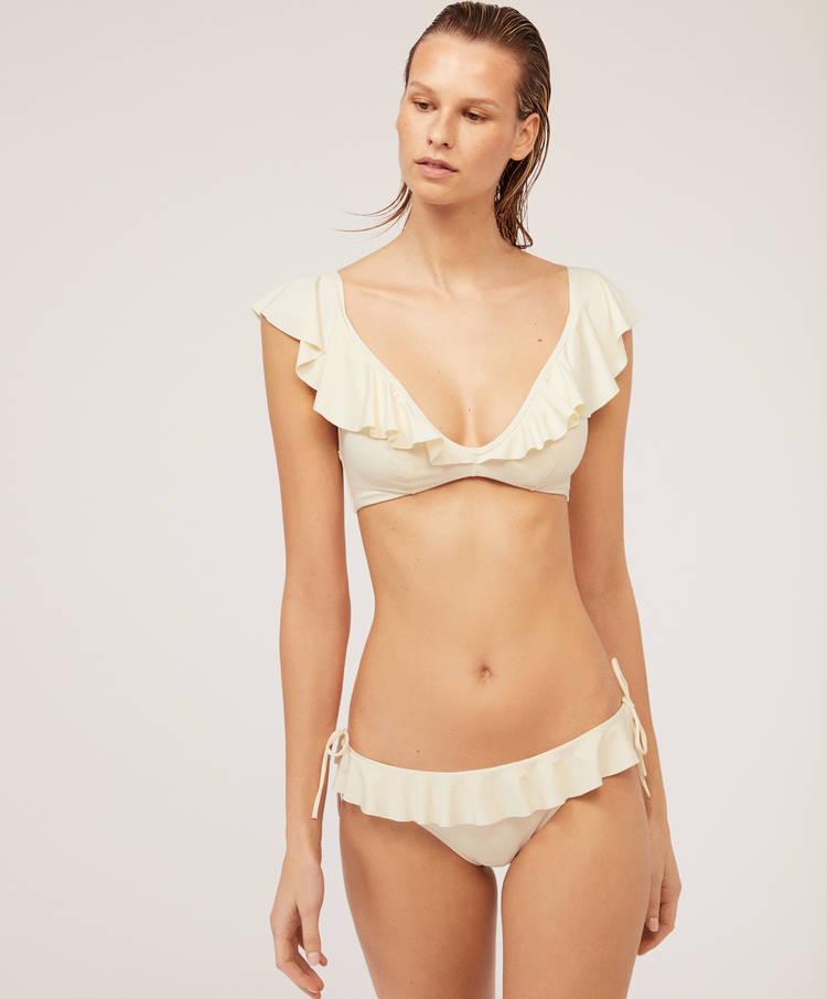 514652e80e20d Ruffled Brazilian bikini bottoms - Plain - Bikinis - Swimwear and ...