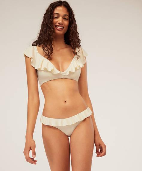 Klassisches Bikinihöschen mit Volants
