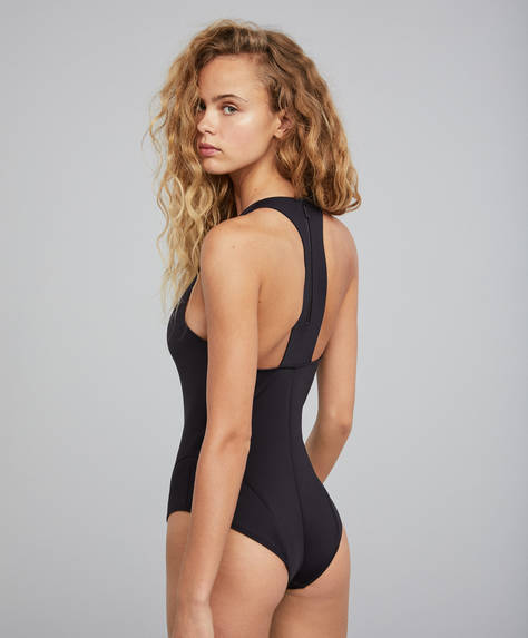 Black Oysho Water Sports swimsuit