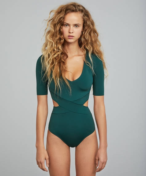 Green Oysho Water Sports swimsuit
