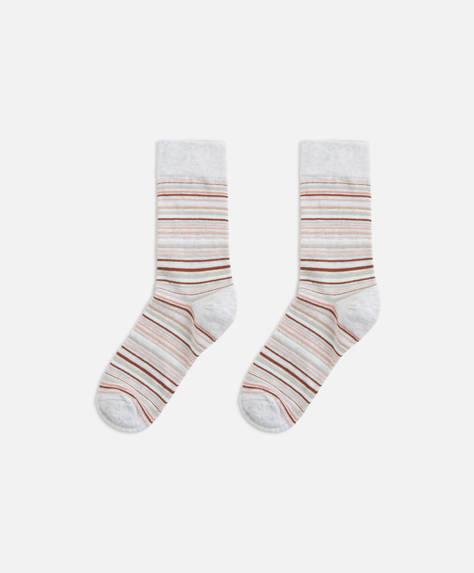 Pink multi-stripe socks