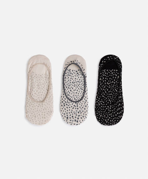3 pairs of animal print footsies