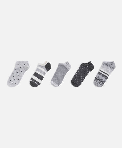 5 pairs of print ankle socks