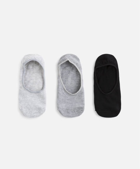 3 pairs of basic no-show socks