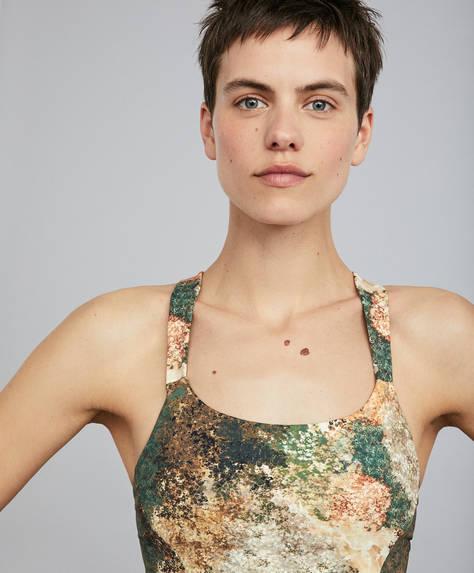 Print sports bra