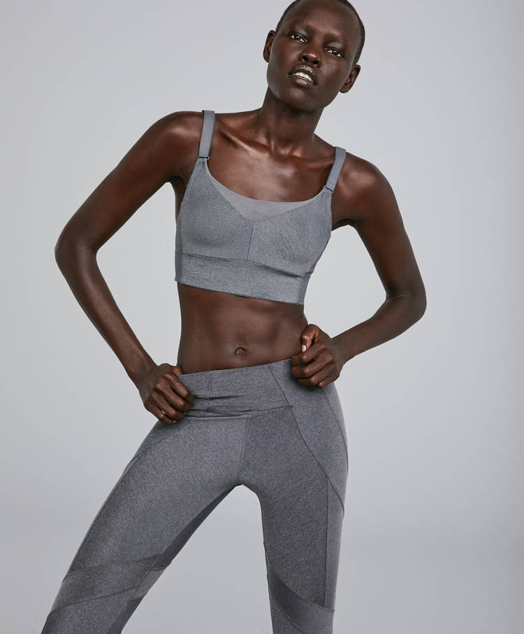 7adec0843 Block bra - Sport bras - By Products - OYSHO SPORT