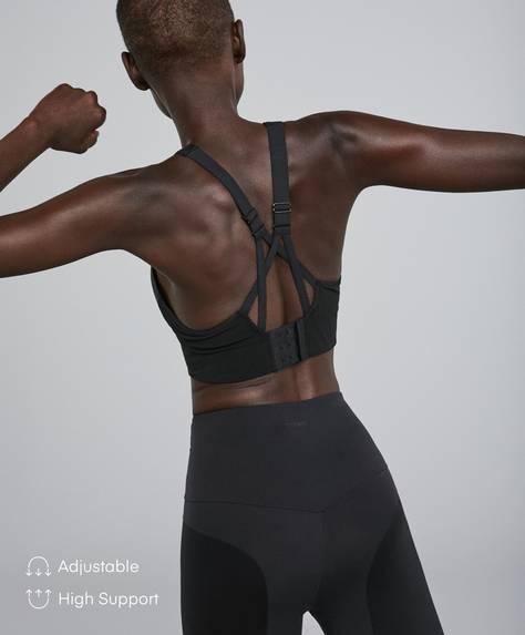 Stretch cropped top sports bra