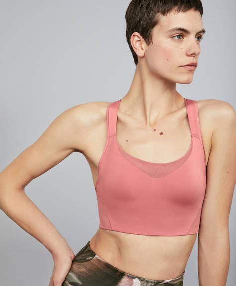 Sujetador deportivo rosa