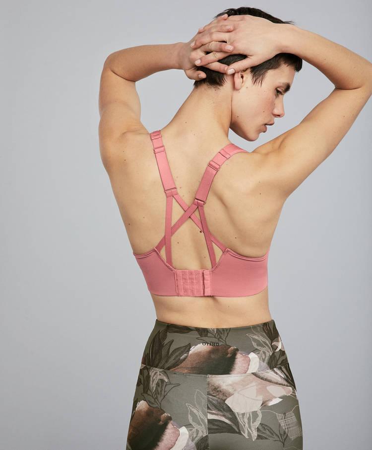 cf2463d54 Pink sports bra - Sport bras - Yoga - Pilates - By Sport - OYSHO ...