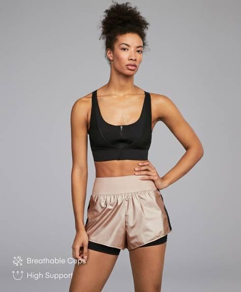 Front zip bra