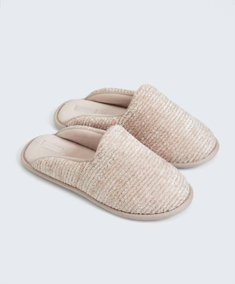 Basic chenille slippers