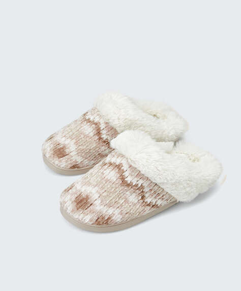 Jacquard slippers