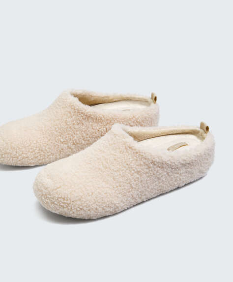 Faux-shearling extra comfort slipper