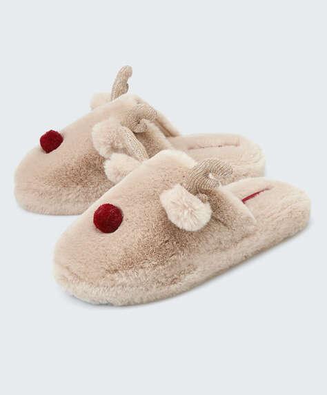 Fantasy reindeer slippers