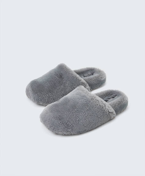 Fluffy lined slippers
