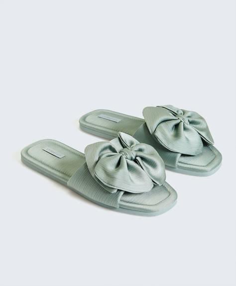 Sandales avec maxi nœud