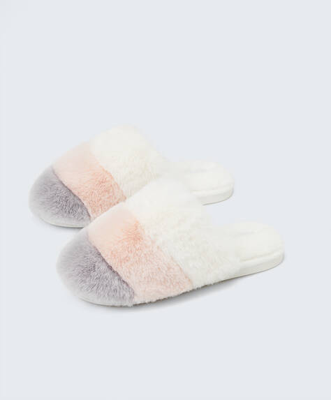 Tricolour slippers