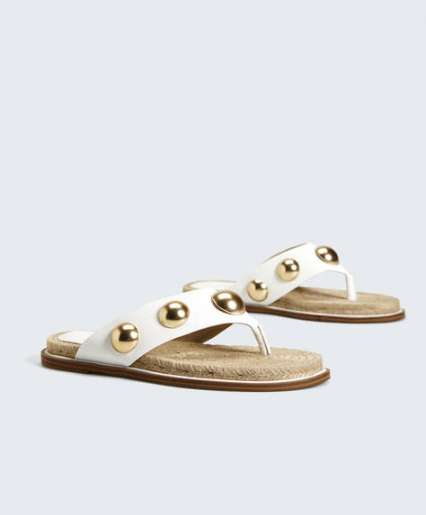 Metallic appliqué sandals
