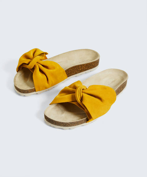 Split-leather knot slides