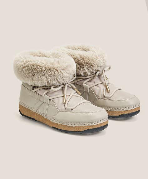 Après-ski faux-fur boots