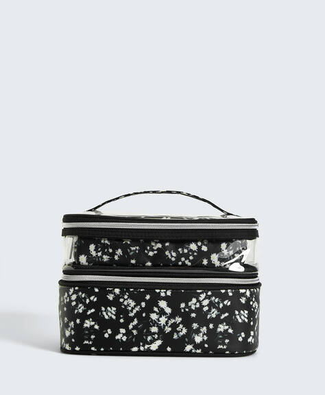 Combination daisy wash bag