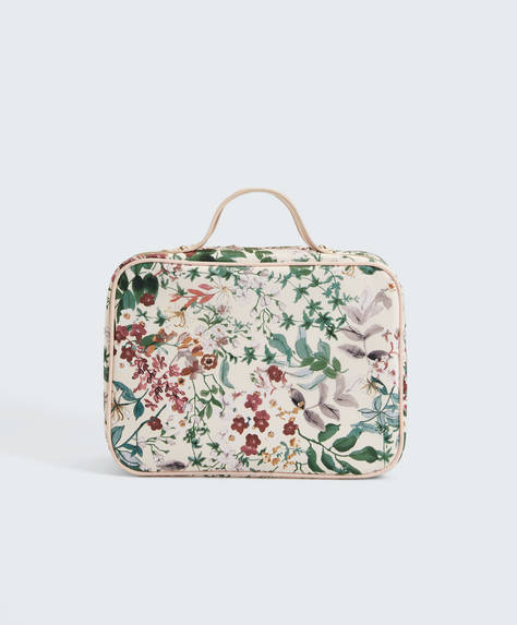 Beauty case print floreale