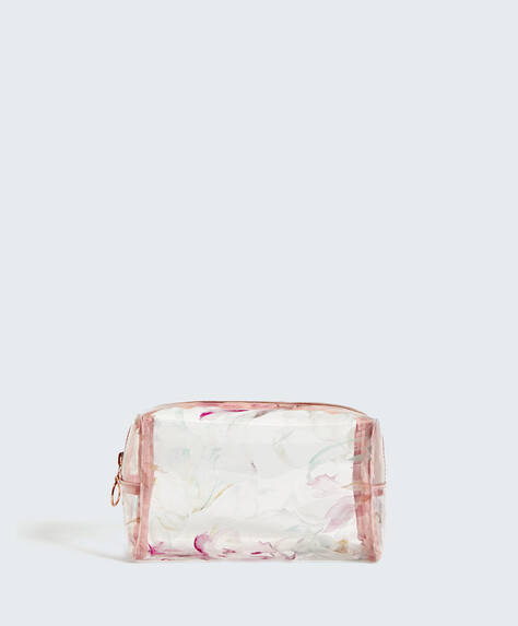 Transparent print wash bag