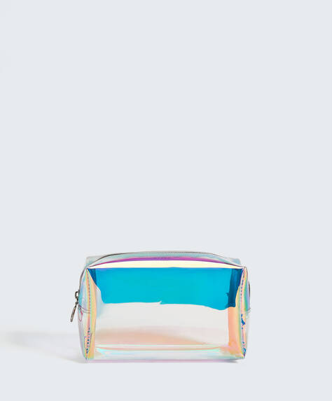 Yanardöner efektli makyaj çantası