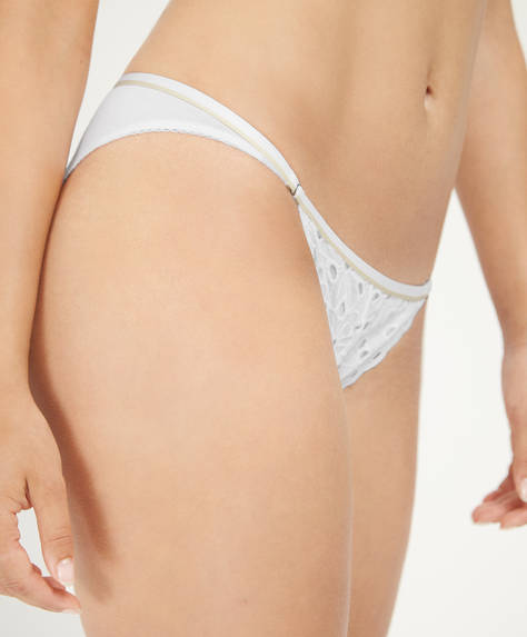 Cotton classic briefs with cutwork