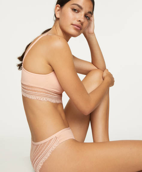 Seamless lace classic briefs