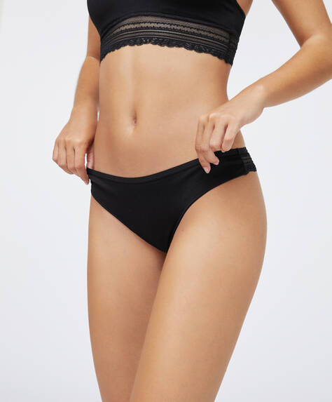 Seamless Hipster-Tanga mit Spitze