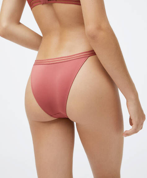 Microfibre strappy Brazilian briefs
