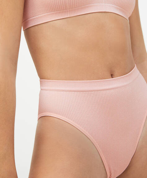 Seamless high-leg Brazilian briefs