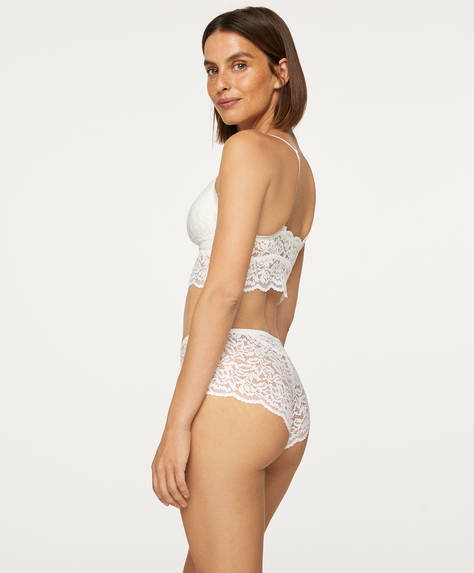 Lace culotte briefs