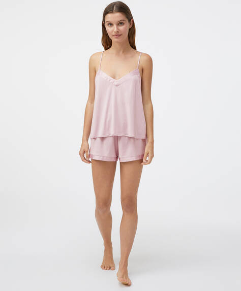 Short ispirato alla lingerie modal raso