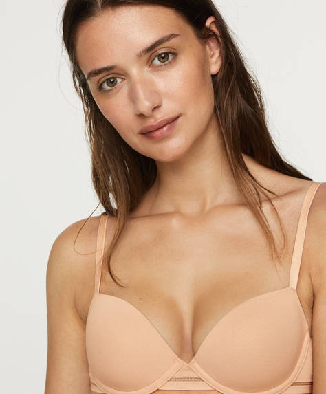 Lightly-padded cotton bra